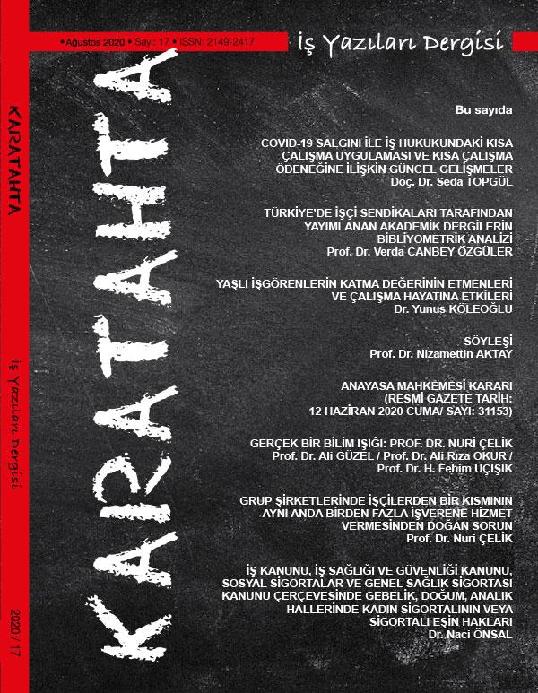 Karatahta İş Yazıları Dergisi 17. Sayı