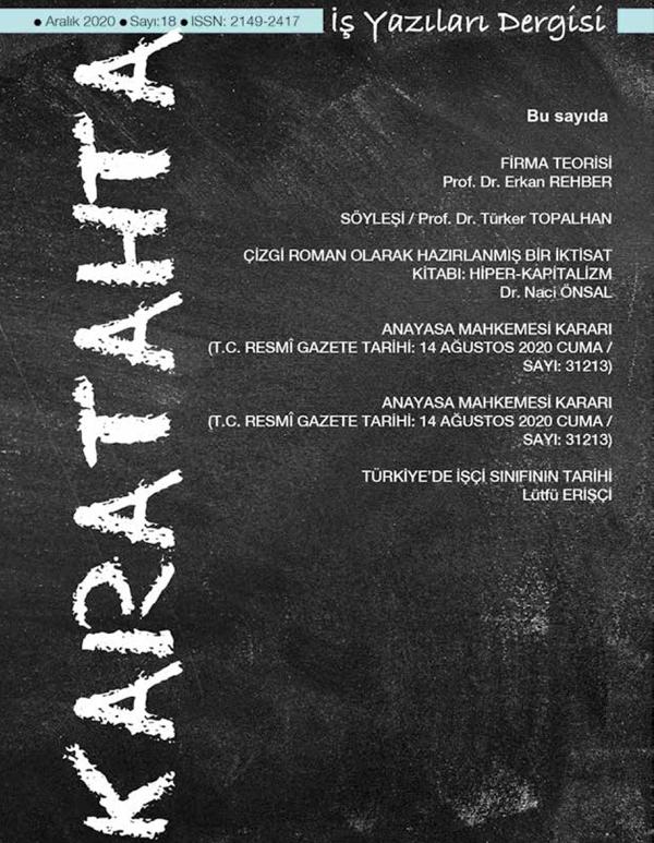 Karatahta İş Yazıları Dergisi 18. Sayı